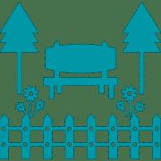 حیاط و آلاچیق فضای کار اشتراکی